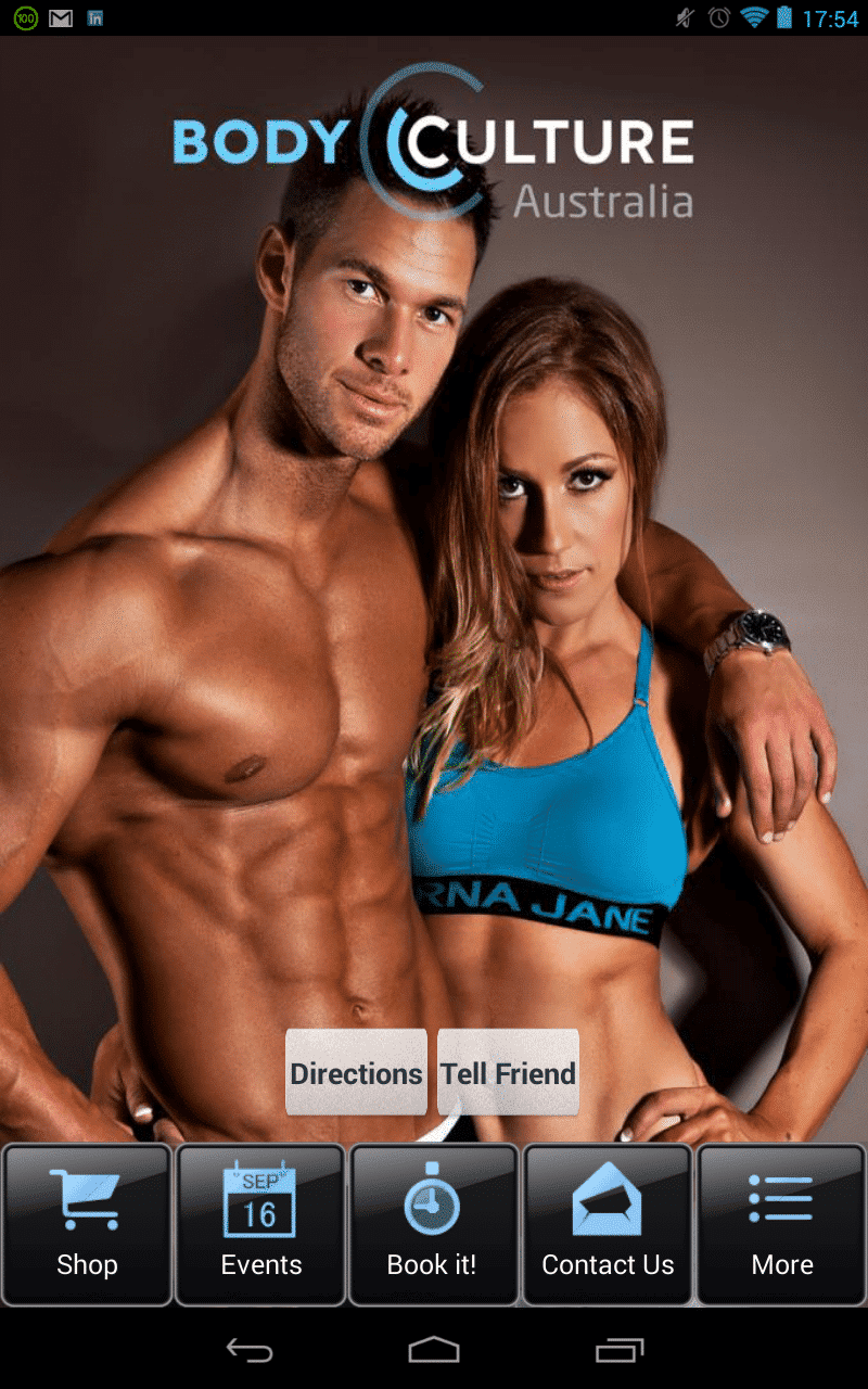 Body Culture Australia Mobile App